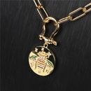 new diamond bee pendant Ushaped necklace NHPY321351