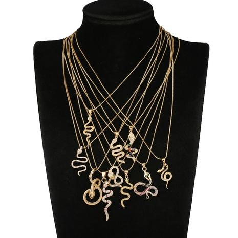 collar de serpiente exagerado de moda NHBU321360's discount tags