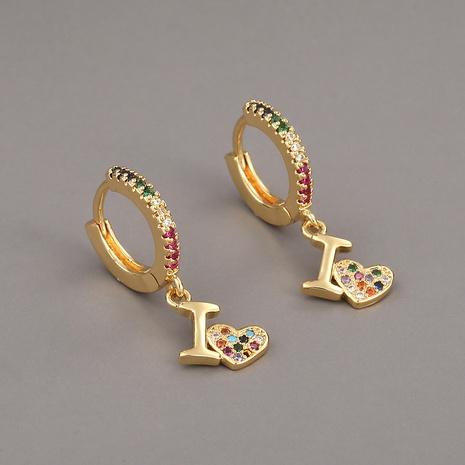 Pendientes de circonita de cobre con corazón de moda NHBU321394's discount tags
