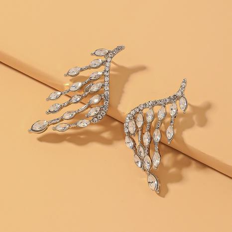 fashion angel wings rhinestone earrings  NHNJ321427's discount tags