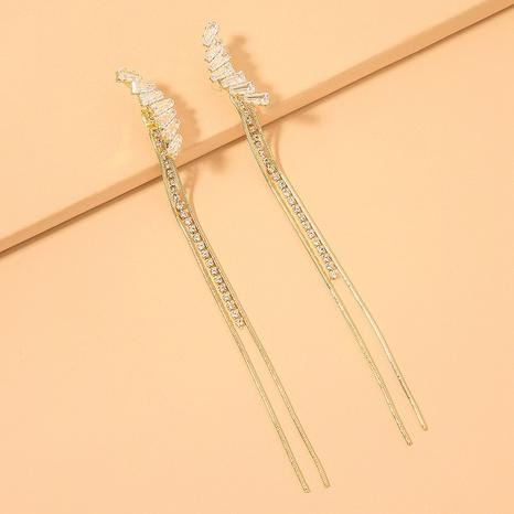 Boucles d'oreilles coréennes longues pompon zircon NHNJ321437's discount tags