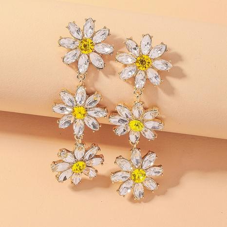 pendientes de girasol de diamantes de imitación barrocos retro NHNJ321443's discount tags