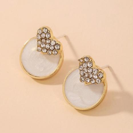 Boucles d'oreilles coréennes cœur coquillage diamant complet NHNJ321462's discount tags