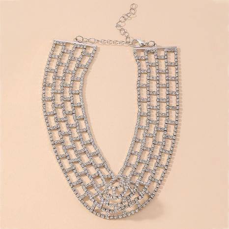 fashion rhinestone geometric necklace NHNJ321464's discount tags