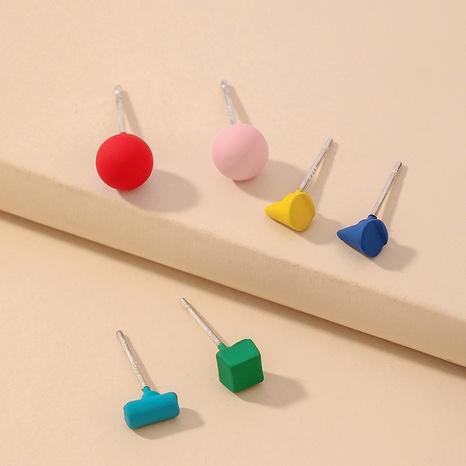 Boucles d'oreilles fleurs géométriques colorées coréennes NHNJ321465's discount tags