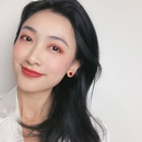 Korean colorful geometric flower earrings NHNJ321465