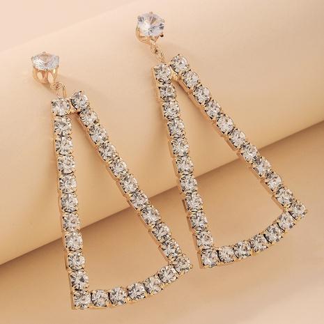 fashion full diamond droplet earrings NHNJ321467's discount tags