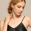 fashion doublelayer star diamond necklace NHNJ321473