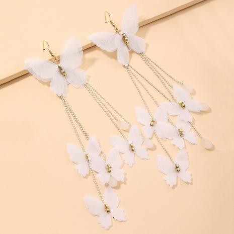 Pendientes colgantes de mariposa de encaje bohemio NHNJ321474's discount tags