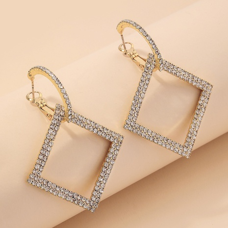 fashion geometric diamonds earrings NHNJ321476's discount tags