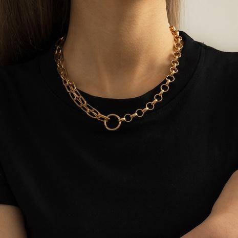 collier à coutures irrégulières exagérées hip hop NHXR321480's discount tags