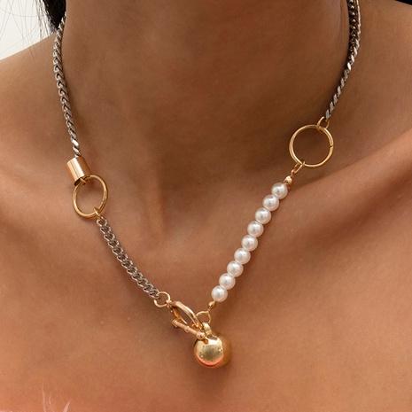 collier de boule de fer anneau simple couche créatif NHXR321482's discount tags