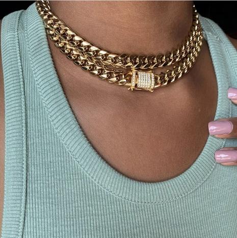 collier creux chaîne en os de serpent à la mode NHXR321513's discount tags