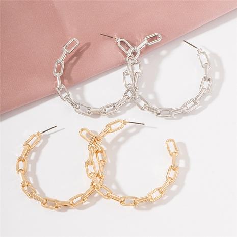 fashion geometric C-shaped earrings NHAI321538's discount tags