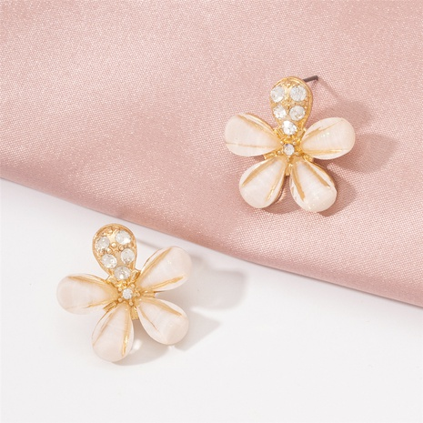 simple fashion diamond-studded flower earrings NHAI321519's discount tags