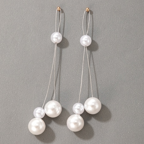 fashion metal pearl earrings NHGY321544's discount tags