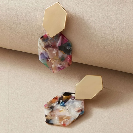 color acrylic geometric earrings  NHGY321545's discount tags