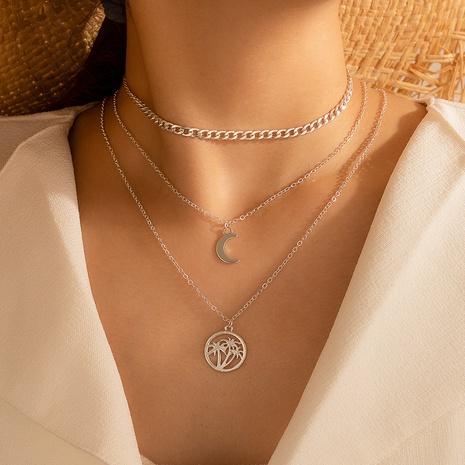collier en alliage de lune multicouche à la mode NHGY321551's discount tags