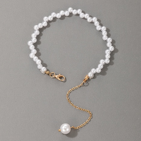 fashion simple single layer pearl bracelet NHGY321550's discount tags