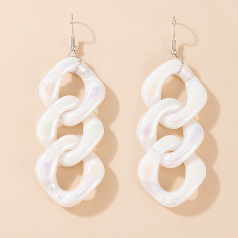 fashion white acrylic long earrings NHGY321553's discount tags