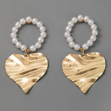heart circle pearl earrings  NHGY321554's discount tags