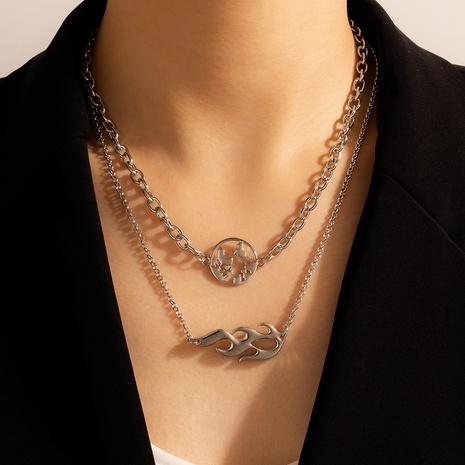 nouveau collier de style ethnique de carte multicouche de mode NHGY321557's discount tags