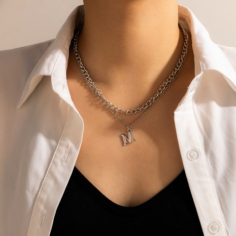 new letter popular simple necklace  NHGY321563's discount tags