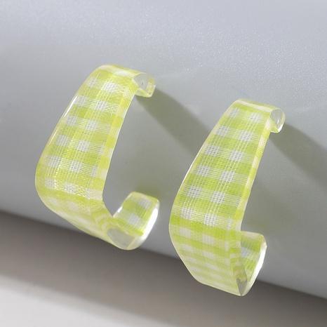 acrylic green geometric earrings  NHGY321568's discount tags