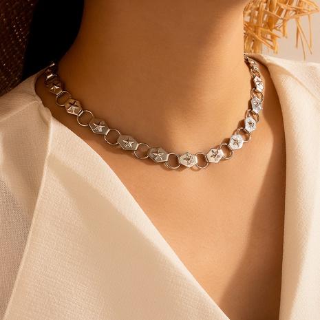 collier étoile à cinq branches punk monocouche NHGY321570's discount tags