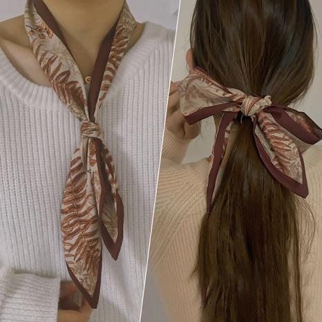 Anillo de pelo de satén con cinta de bufanda de seda coreana NHNA320823's discount tags