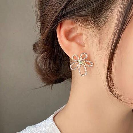 boucles d'oreilles à fleurs creuses NHOT321637's discount tags