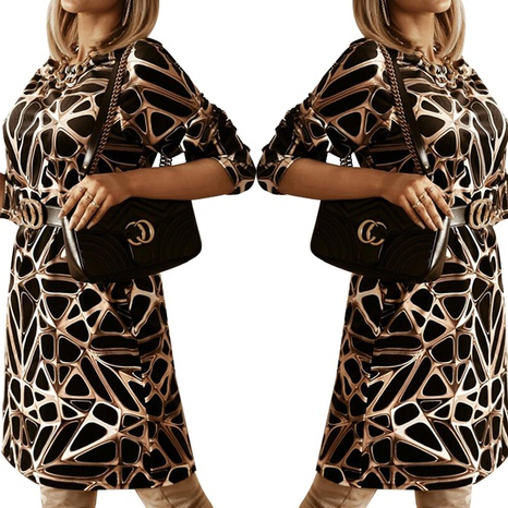 Jupe courte décontractée à la mode imprimée pour femmes de printemps NHWA322097's discount tags
