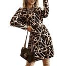 Jupe courte dcontracte  la mode imprime pour femmes de printemps NHWA322097