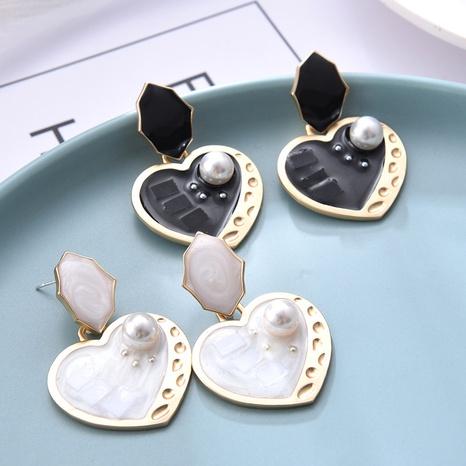 Boucles d'oreilles goutte à goutte d'huile simples en forme de cœur NHQC321596's discount tags