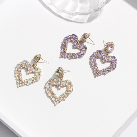 Korean fashion love earrings NHQC321625's discount tags
