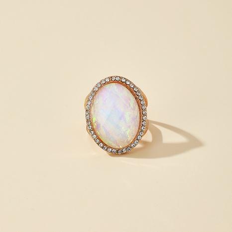 Bague de pierres précieuses colorées ovales rétro NHGY321624's discount tags