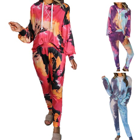 fashion casual printing long sleeve pants two-piece suit NHWA322032's discount tags