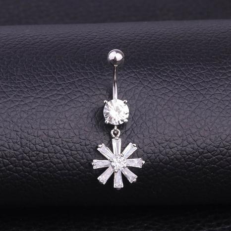 fashion zircon sun flower belly button nail  NHEN330797's discount tags