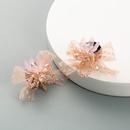 Korean crystal lace cloth flower earrings  NHLN330798