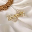 Korea Pearl bow hair clips girls hair accessories  NHMS330839