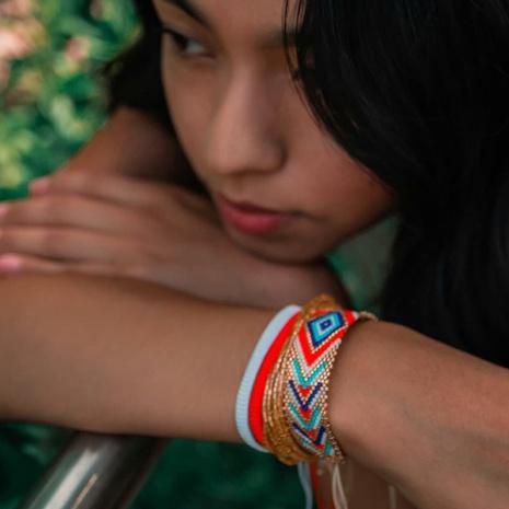 Böhmische Miyuki Perle geometrisches Auge mehrschichtiges Trage-Armband-Set NHGW330862's discount tags