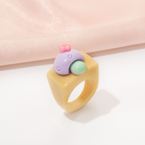 fashion acrylic mushroom ring NHAI330878's discount tags