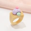 fashion acrylic mushroom ring NHAI330878