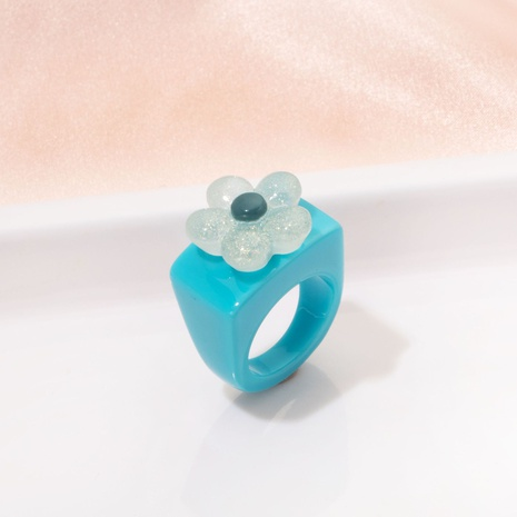 fashion acrylic flower ring NHAI330880's discount tags