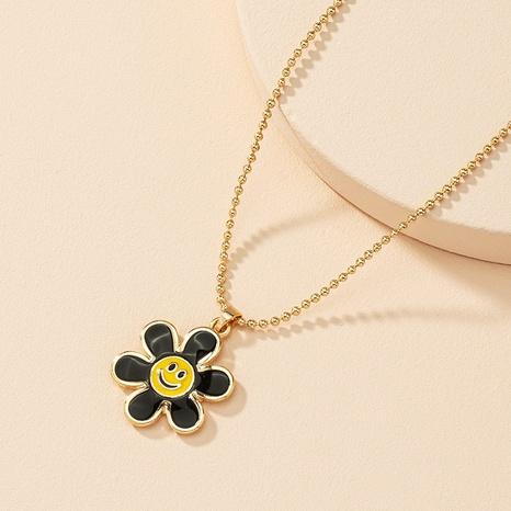 Mode Blume Smiley-Legierung Halskette Großhandel NHAI330885's discount tags