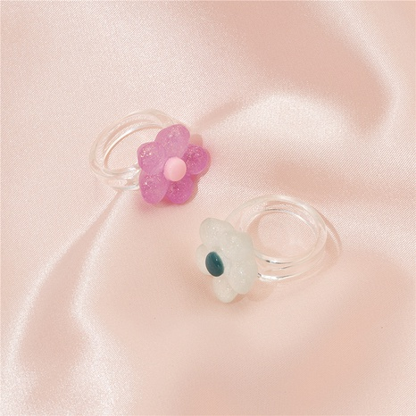 simple flower transparent resin earrings  NHAI330889's discount tags