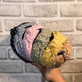 Modisches gepunktetes Stirnband aus gepunktetem Stoff NHCL330892