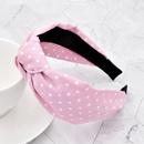 Fashion polka dot fabric knotted headband NHCL330892