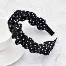Fashion bubble fold polka dot fabric headband NHCL330896
