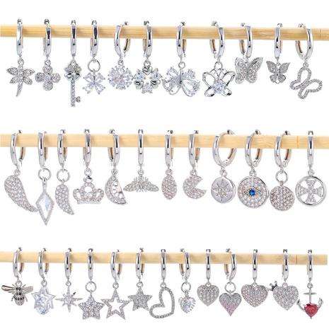 fashion asymmetrical zircon earrings  NHWG330627's discount tags